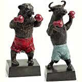 Boxing Bull Bear Statues
