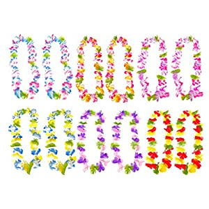 24pcs of Hawaii Hula-Hula Dancing Leis Garland Artificial Flowers Neck Ring by Alimitopia 107