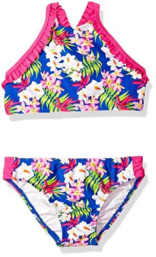 Tommy Bahama Big Girls' 2-Piece Ruffle Trim Bikini Swimsuit, Aloha Floral, (Bahama Bikini Top)