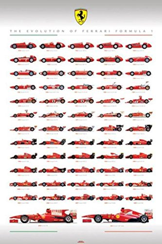 Pyramid Ferrari F1 Evolution Poster Print for sale  Delivered anywhere in USA