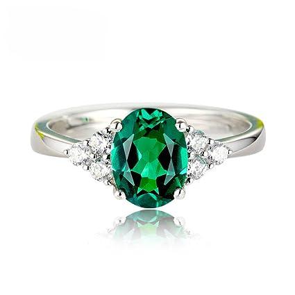 7831efe5a Skyeye Emerald Diamond Ring Open Ring Adjustable Green Crystal Mermaid Ring  Crystal Diamond Zircon Ring Unique Design Size for Women Girl Wedding Gift:  ...