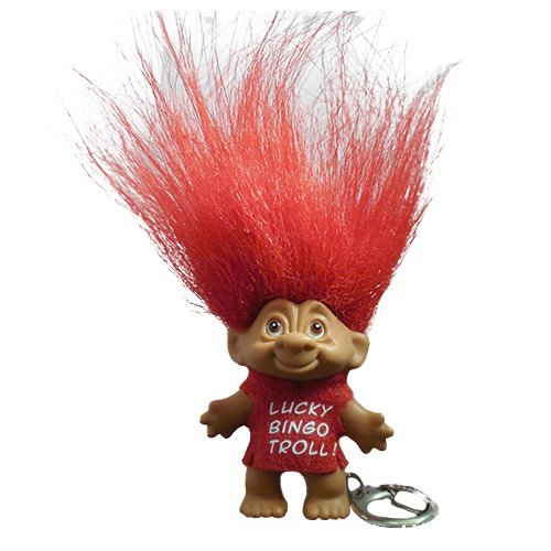 Lucky Bingo Troll Keychain Red by BNW