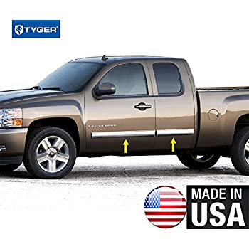 made in usa 2009 2013 chevy silverado extended cab rocker panel chrome stainless. Black Bedroom Furniture Sets. Home Design Ideas