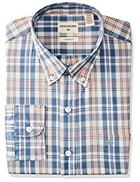 Dockers Long Sleeve Stretch No Wrinkle Camisa Casual para Hombre