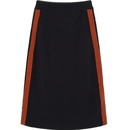 LLFUSM Color de Punto Media Falda Mujer Otoño Invierno Ropa ...