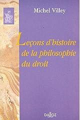 Leçons d'histoire de la philosophie du droit: Réimpression de la 2e édition de 1962 (Bibliothèque Dalloz) (French Edition) Paperback