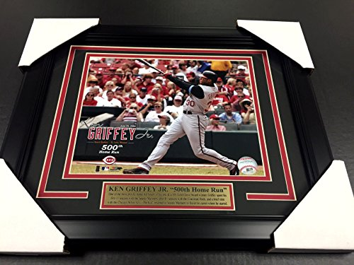 KEN GRIFFEY JR THE KID 500 500TH HOMERUN HR REDS UNSIGNED 8x10 PHOTO FRAMED ()
