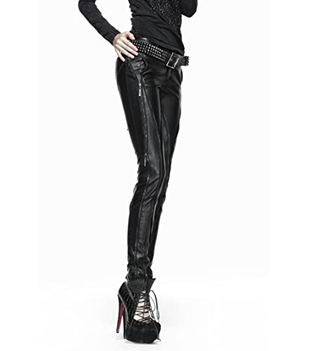 Gótico Pantalón para mujer piel sintética, diseño de PUNK RAVE multicolor XL