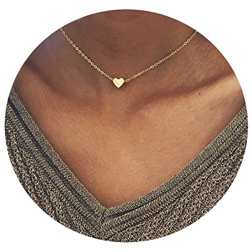 Fancymix Women Fashion Jewelry Heart Shaped Pendant Silvery/Gold Plated Chain Multilayer Necklace