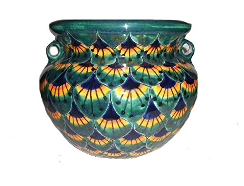 (Talavera Michoacana Peacock Pot, 12