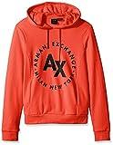 A|X Armani Exchange Men's Circle Logo Fleece Hoodie