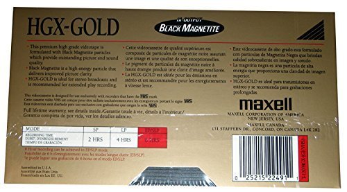 Maxell HGX-Gold - T-120 - 6 Hour - Premium High Grade - Blank VHS - 5 Pack