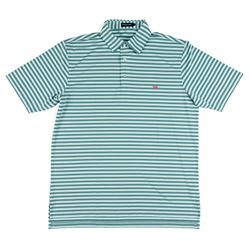 (Bermuda Hamilton Stripe Golf Polo Multi Large)