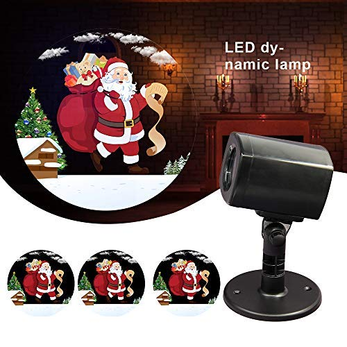 Projector Lights,LED Party Projection Lamp, Waterproof RGB Projector Light,Pattern Spotlight for Christmas, Outdoor Indoor Party, Halloween, Girls' Night, Holiday Decorations (Santa Claus Pattern)]()