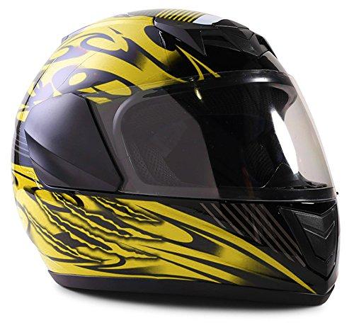 Motorcycle Helmet Yellow - 8