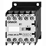 Omron 12010-4022 J7KNA-AR-222424VS DC Solenoid Operated Mini Contactor Relay With Diode 24 Volt AC/DC 2 NO/2 NC 4 Pole 10 Amp