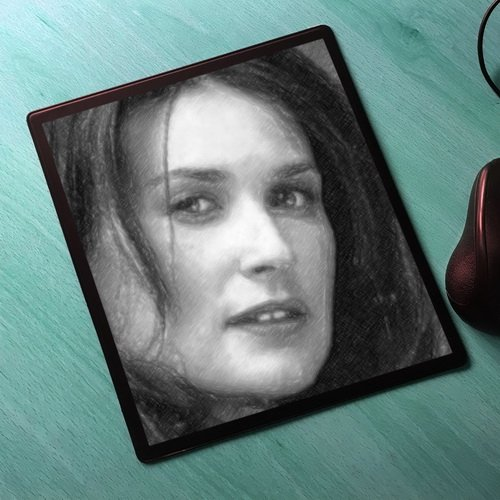 Seasons Demi Moore - Original Art Mouse Mat #js001