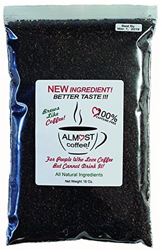 ALMOSTcoffee, Coffee Substitute.16 Oz.BREWS LIKE COFFEE, So It Has A Fresh-Brewed Flavor, Very Healthy And (Very Healthy)