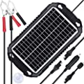 SUNER POWER 12V Solar Car Battery Charger & Maintainer - Waterproof 6W 8W Solar Panel Trickle Charging Kit for Automotive, Motorcycle, Boat, Marine, RV, Trailer, Powersports, Snowmobile, etc.