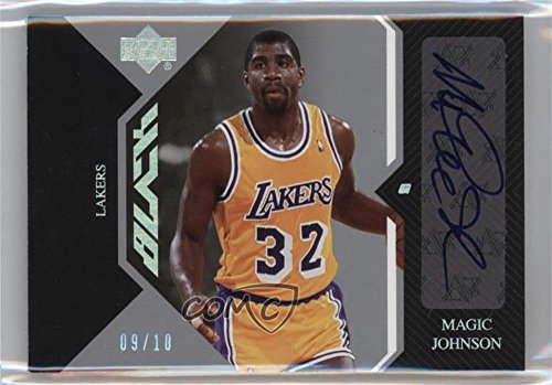 Legends Auto Card - Magic Johnson #9/10 (Basketball Card) 2006-07 Upper Deck UD Black - Auto Legends #AL-MA