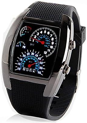 177d5fffd2a2 Sidiou Group Hombres de múltiples funciones de goma Estilo Digital LED  Wrist Watch (colores surtidos)