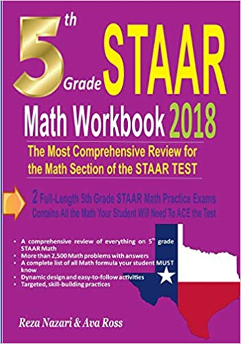5th Grade Staar Math Workbook 2018 The Most Comprehensive Review