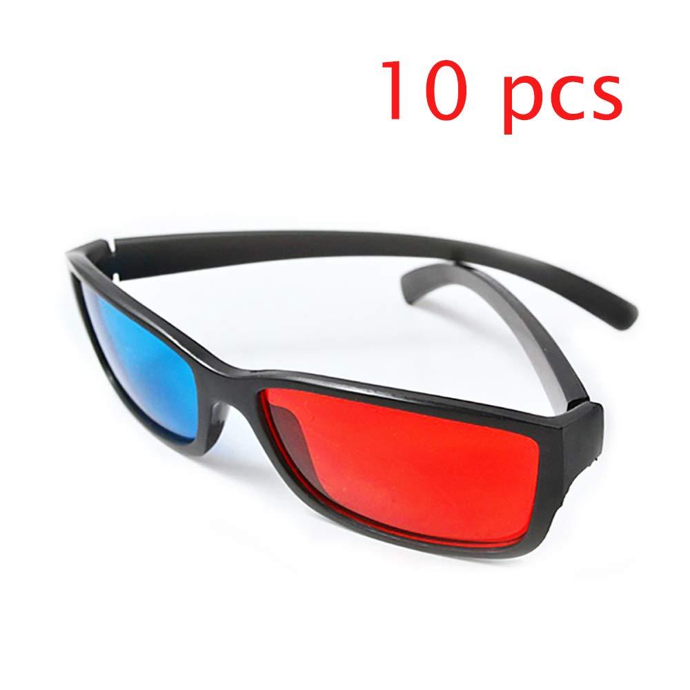 Marco Negro Rojo Azul Cian Anaglifo Gafas 3D 0.2Mm Gafas 3D ...