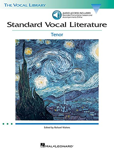 - Standard Vocal Literature - An Introduction to Repertoire: Tenor (Vocal Library)