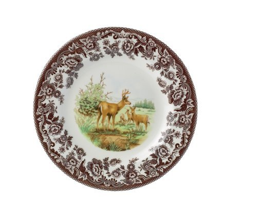 American Wildlife Collection Dinner Plate (Spode Woodland American Wildlife Mule Deer Dinner Plate by Spode)