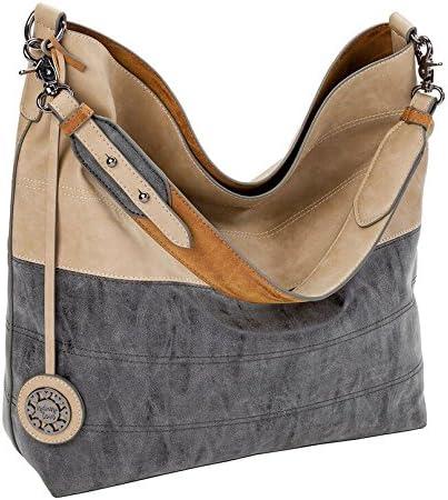 Sydney Love Faux Suede Sand Coal Mocha Hobo Handbag