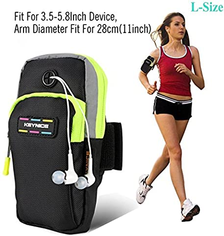 Cell Phone Sports Armband,Keynice Multifunctional Pockets Workout Running ArmBag for iphone 7 iphone 7 plus iphone6,6plus,6s Plus,5,5s,Galaxy S6,S5,S4,S3,Note 2 3 4 and all 3.5~5.8