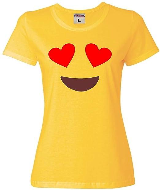 Amazon.com: Womens sonriente Corazón Ojos Emoji Emoticon ...