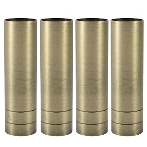 uxcell 4pcs 25mmx90mm Bronze Tone Metal Candle Cover Sleeves Chandelier Socket Covers by uxcell