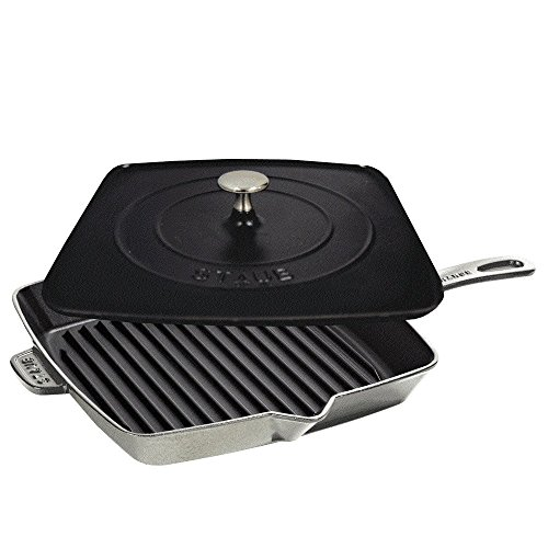Staub Grill Press Combo, Graphite Grey, 12 - Graphite Grey