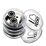 ILoveFidget R188 Bearing Replacement Set for Fidget Spinner and Toys, 2-pack R188 Stainless Steel Bearing and Open Tool, High Speed Replacement Bearing for Hand Spinner Fidget Toy Diy
