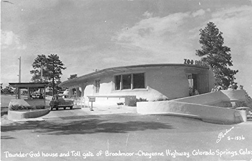 Colorado Springs Colorado Cheyenne Highway Toll Gate of Broadmoor PC V12741 ()
