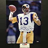 Autographed/Signed Kurt Warner St. Louis Rams 16x20 Football Photo Tristar COA