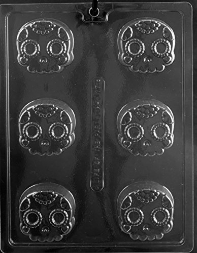 Skull Decorative Cookie Halloween Oreo Party Favor Chocolate Soap Mold Mould Ships Same Day m313 -