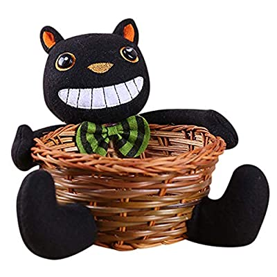 Halloween Clearance, Doll Fruit Decoration Bowl Halloween Ghost Candy Basket Home Decor Hand-Woven