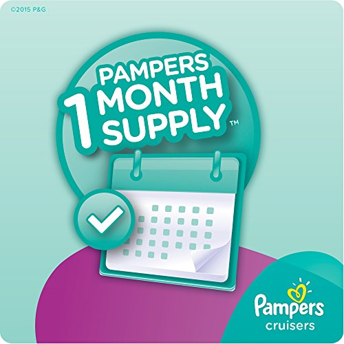 Large Product Image of Pampers Cruisers Disposable Diapers Size 4, 164 Count, ONE MONTH SUPPLY