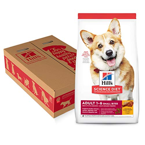 - Hill's Science Diet Dry Dog Food, Adult, Small Bites, Chicken & Barley Recipe, 35 lb Bag
