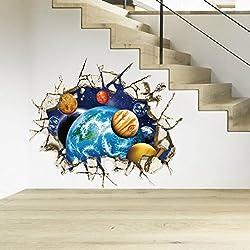 NewKelly 3D Floor Wall Sticker Removable Mural Decals Vinyl Art Living Room Decors (3)