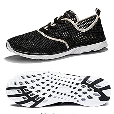 NDB Men's Mesh Lace-Up Quick Drying Aqua Water Shoes Breathable Lightweight Fashion Walking Shoes