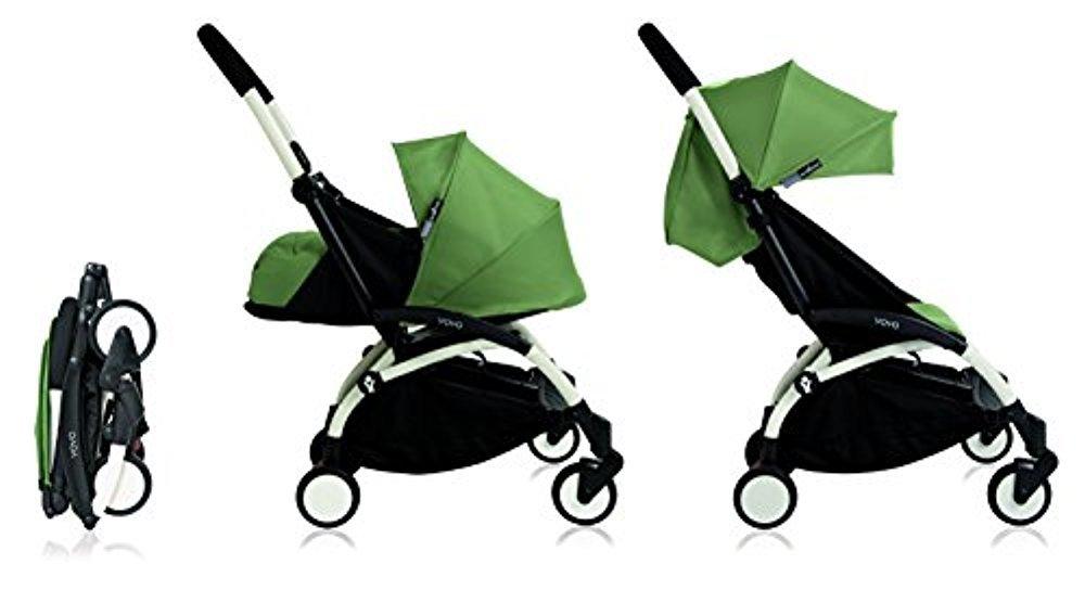 Babyzen YoYo+ Stroller Bundle with White Frame (Yoyo+ Stroller, Canopy & Newborn Pack) (Peppermint)