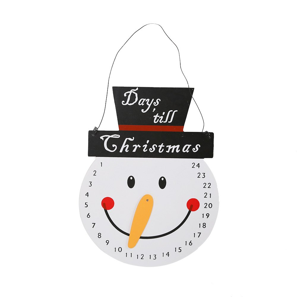 Countdown to Christmas Snowman Advent Calendar for Kids Room Decorations