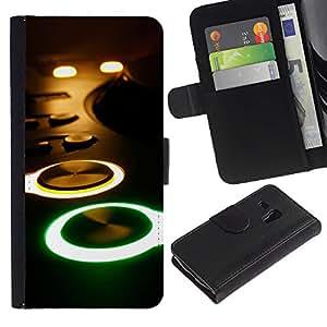 UNIQCASE - Samsung Galaxy S3 MINI NOT REGULAR! I8190 I8190N - Glowing Buttons Console - Cuero PU Delgado caso cubierta Shell Armor Funda Case Cover