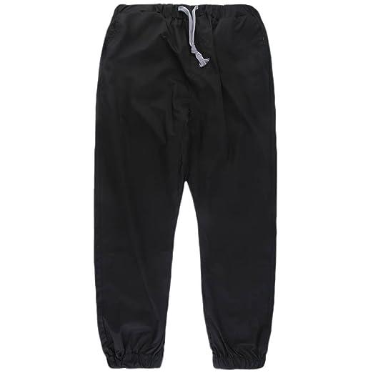 SKYSC - Pantalones de chándal para hombre, de algodón macizo ...