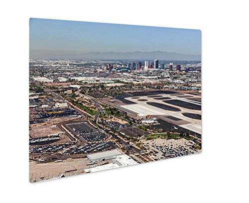 Ashley Giclee Metal Panel Print, Downtown Phoenix Arizona Skyline From Above Sky Harbor International Airport, 8x10, - In Phoenix Sky Airport Arizona Harbor
