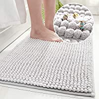 Tapete De Banheiro Super Soft Antiderrapante Bolinha 60x40cm (Cinza Claro)