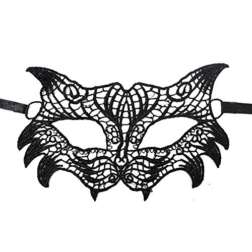 (Lace Masquerade Mask Women Venetian Mask Party Prom Evening Prom Mask Costume for Masquerade Party Halloween)